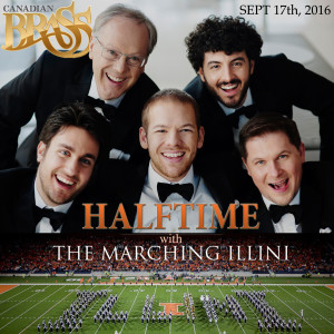 canadian brass halftime show with marching illini